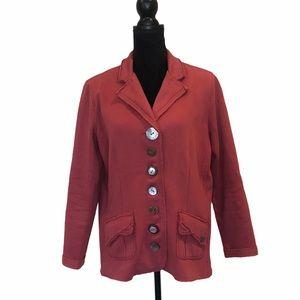 Neon Budda button front blazer jacket size large